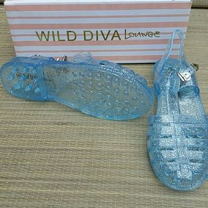 54a30dd4af92 Wild Diva Shoes - Wild Diva Lounge Blue Jelly Shoes Size 5Y NEW