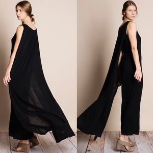 Bare Anthology Dresses & Skirts - Black Cape Maxi Dress