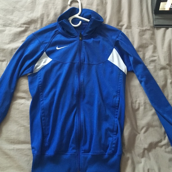 Nike Jackets & Blazers - Nike, royal blue zip up