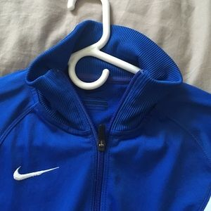 Nike Jackets & Coats - Nike, royal blue zip up