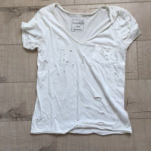 Free People Destroyed Shirt