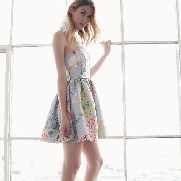 Bare Anthology Dresses & Skirts - NBF ❤️ Strapless Floral Flare Dress