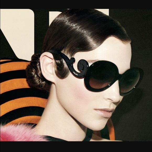 7842410ec1a9 Prada Black Baroque Sunglasses. M 57266c5cb4188e0d6205b264