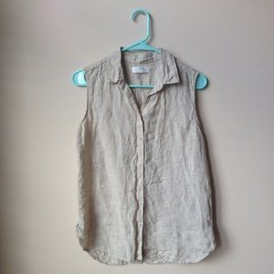 Uniqlo Sleeveless Linen Top