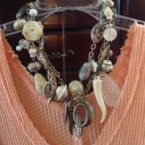Jewelry - Multi strand necklace and earrings