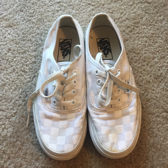 vans authentic checkerboard laces