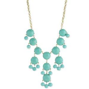 Pretty mint green & pale blue statement necklace