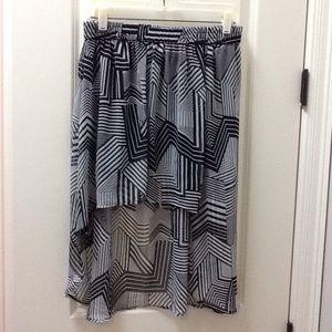Forever 21 Dresses & Skirts - Forever 21- Black & White High Low Skirt