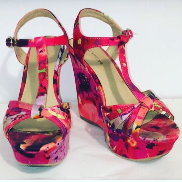 28047c3513 Call It Spring Shoes   Floral Printed Wedges   Poshmark