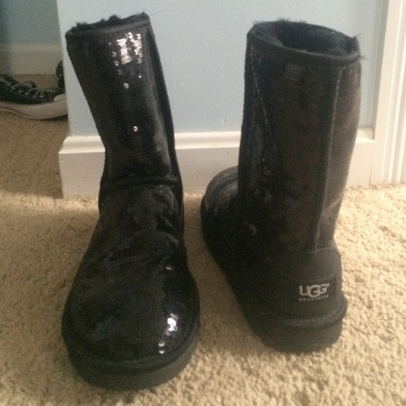 186c905d927 Black Sequin Ugg Boots Size 5 - cheap watches mgc-gas.com