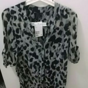 Brand new with tags, H&M leopard blouse