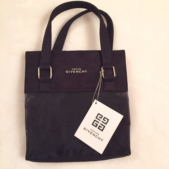 givenchy givenchy parfums mini tote bag mesh suede