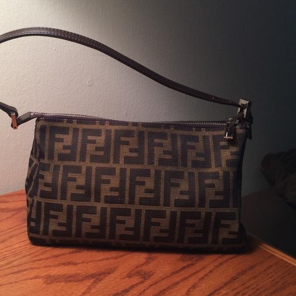 FENDI Handbags - Vintage canvas Fendi Zucca handbag 538ec7f2d314d