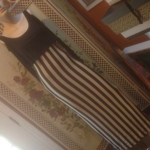 Foreign Exchange Dresses & Skirts - Body con black striped dress