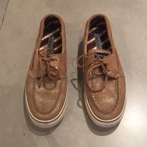 Sperry Top Sider Original Boat Shoe in Gold