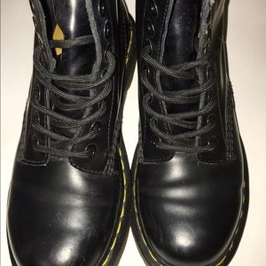 Matte Black Dr. Marten Combat Boots