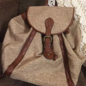 Lucky Handbags - Lucky Brand Kendal backpack canvas w/ leather trim