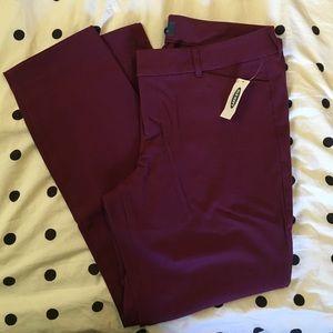Old Navy Pixie Purple/Burgundy Pants