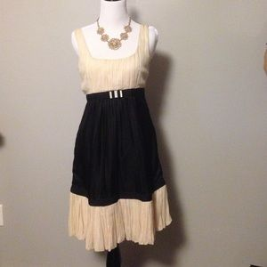 Anthropologie black and cream dress. Size 2