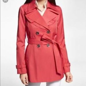 Express Coral Trench Coat