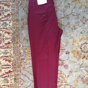 Pink/magenta cropped dress slack Ann Taylor loft