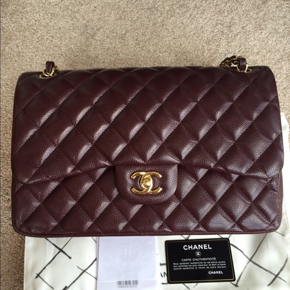 f818f591ee9c CHANEL Bags | Sold Jumbo Double Flap Caviar Burgundy Ghw | Poshmark