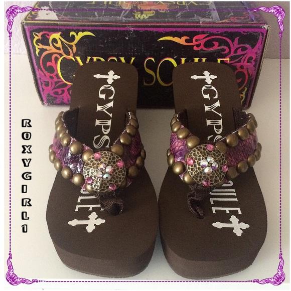 e41ee632e85d29 Gypsy Soul Embellished Sandals