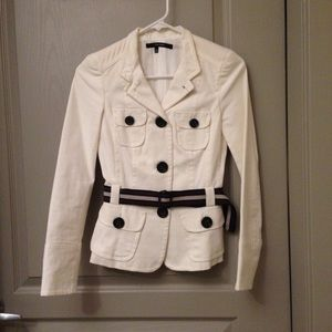 NWOT Zara Jacket Blazer Button Work White xs