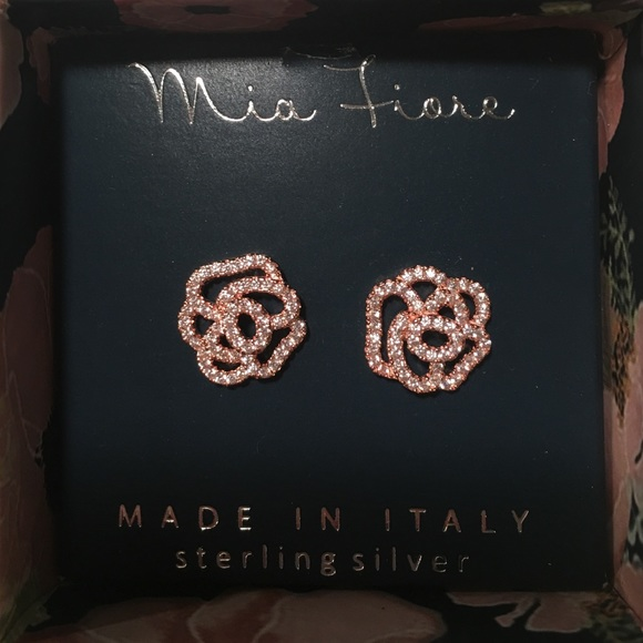 eb665d28a Mia Fiore Rose Gold Floral Stud Earrings. M_5726b0ab41b4e0dd22014759