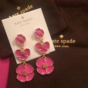 Jewelry - Kate spade dangle flower earrings