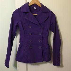 Purple H&M fitted blazer jacket size 2