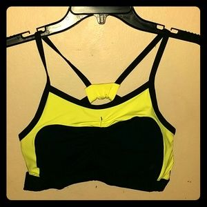 Other - Sexy Black and neon yellow sport bra size Medium