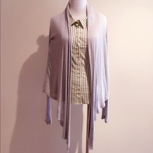 Jackets & Blazers - Draped light cover/jacket/shawl in light grey