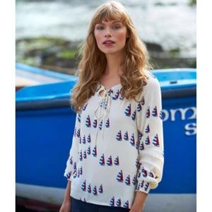 Joules Tops - { Joules } Joely Woven Top Boating Sailing