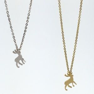 Jewelry - Gold or silver deer necklace