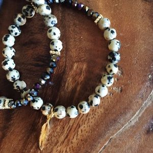 Function & Fringe Jewelry - LAST ONE! Dalmatian Jasper Bracelet