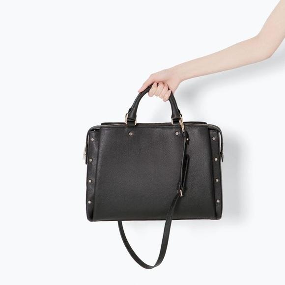 Zara Bags Studded Office City Bag Poshmark