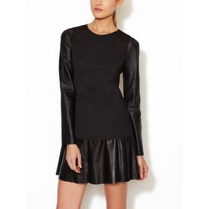 Stella & Jamie Tops - Stella and Jamie Rio Leather Sleeve Top
