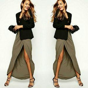 ASOS Wrap Fall Maxi Skirt