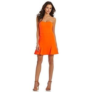 Gianni Bini Candace Orange Strapless Dress!