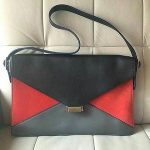 Celine envelope bag dark blue red grey