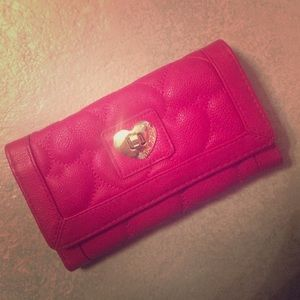 Betsey Johnson Quilted Heart Wallet