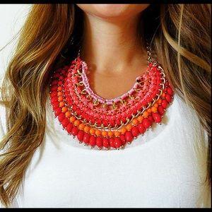 Bohemian style bib necklace