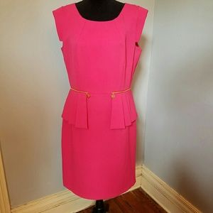 22566027b1 ANTONIO MELANI Dresses - Antonio Melani Fuschia Peplum Dress