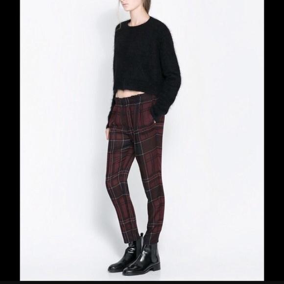 71% off Zara Pants - Zara Plaid pants from Traci's closet on Poshmark