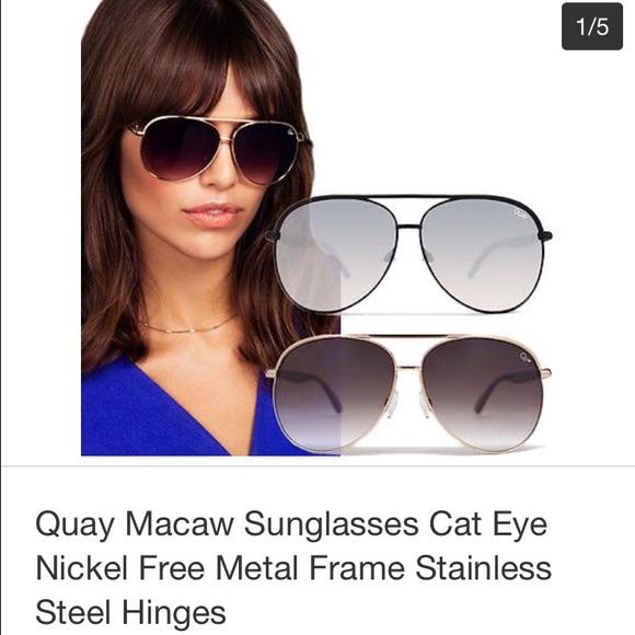 0df3c0db382 Quay Macaw Sunglasses Black silver