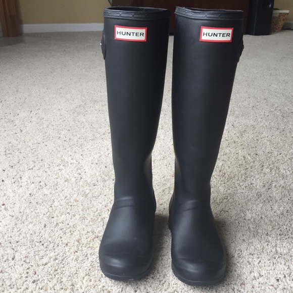 34 off hunter boots shoes black matte hunter rain boots