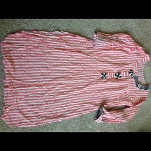 Striped tunic with buttons