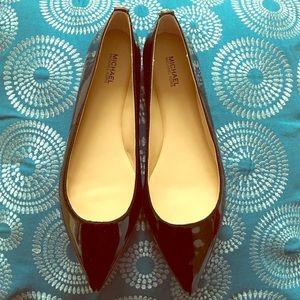 96e20fe7850 MICHAEL Michael Kors Shoes - Michael Kors Arianna Flats - Black Patent 8 1 2