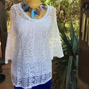 HOST PICK 5/16/16Navajo Lace Tunic w/Cami